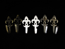 Fleur De Lys Tassel Hooks 5.5cm Regency Metal Wall Door Traditional Tieback hook